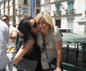 Con Patri Estevez en Dia del Orgullo Gay 2010