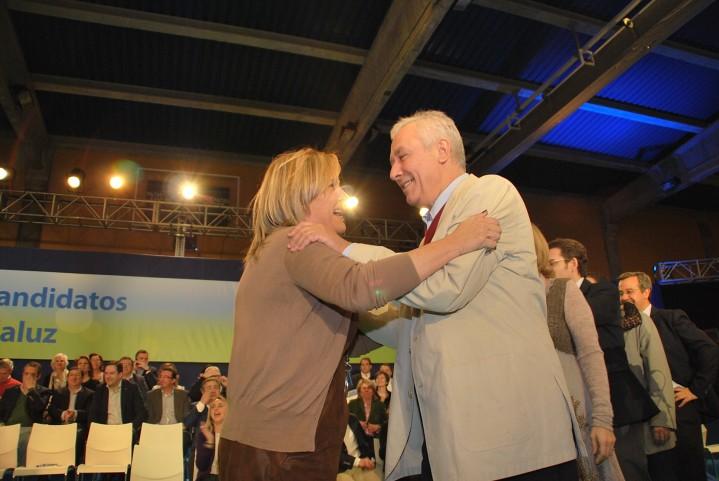 Con Javier Arenas en la presentación candidatos 2012 en Estepona