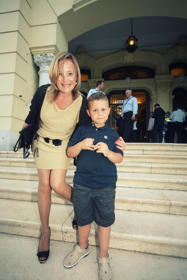 Con mi hijo. Mayo 2012