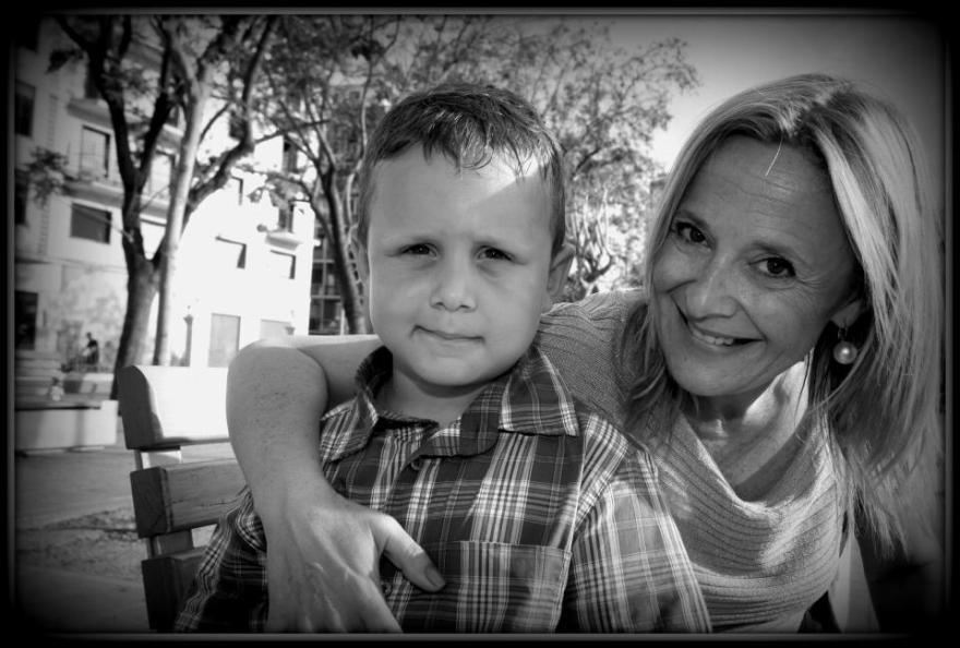 Con mi hijo en el dia de su 6 cumpleaños