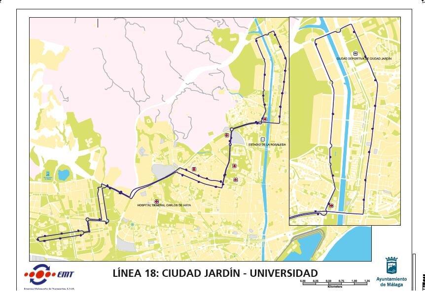 Línea 18 Ciudad Jardín / Universidad