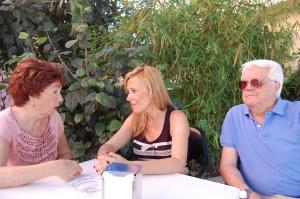 En Cortijillo Bazán con Carmen Cañamero, Presidenta de la Asociación de Mayores de Cosrtjillo Bazán