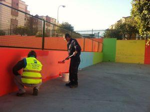 Mejora del patio del Colegio Blas Infante