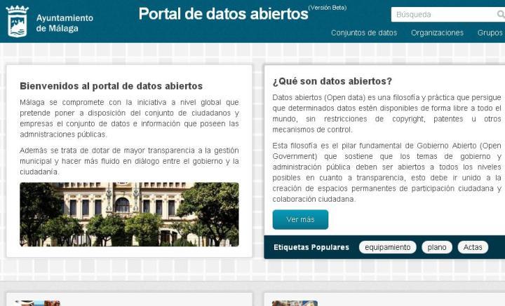 datos abiertos malaga